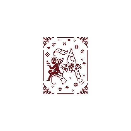 Couleur d'étoile, grille Mon Ange lettre A (CE0079A)