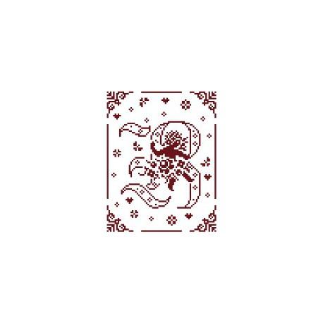 Couleur d'étoile, grille Mon Ange lettre B (CE0079B)