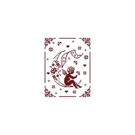 Couleur d'étoile, grille Mon Ange lettre C (CE0079C)