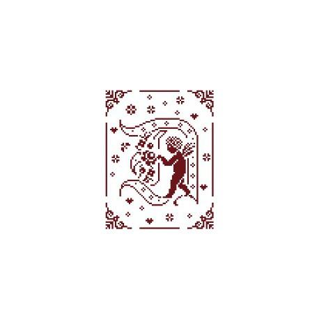 Couleur d'étoile, grille Mon Ange lettre D (CE0079D)