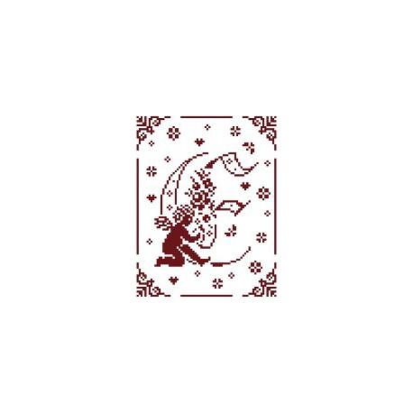 Couleur d'étoile, grille Mon Ange lettre E (CE0079E)