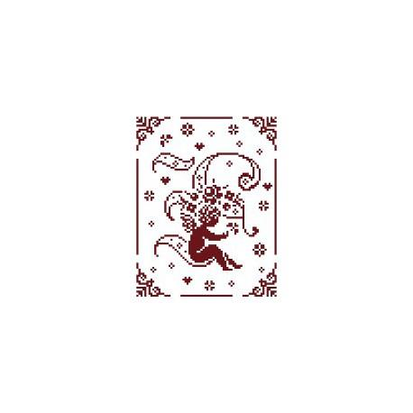 Couleur d'étoile, grille Mon Ange lettre F (CE0079F)