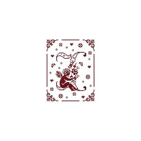 Couleur d'étoile, grille Mon Ange lettre I (CE0079I)