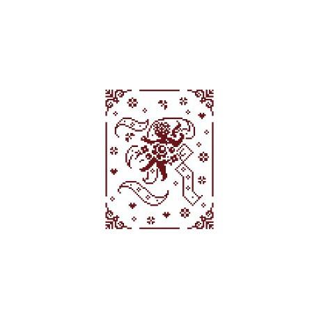 Couleur d'étoile, grille Mon Ange lettre K (CE0079K)