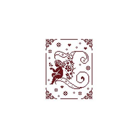 Couleur d'étoile, grille Mon Ange lettre L (CE0079L)