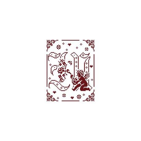 Couleur d'étoile, grille Mon Ange lettre M (CE0079M)