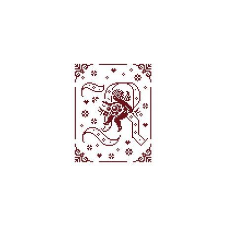 Couleur d'étoile, grille Mon Ange lettre R (CE0079R)