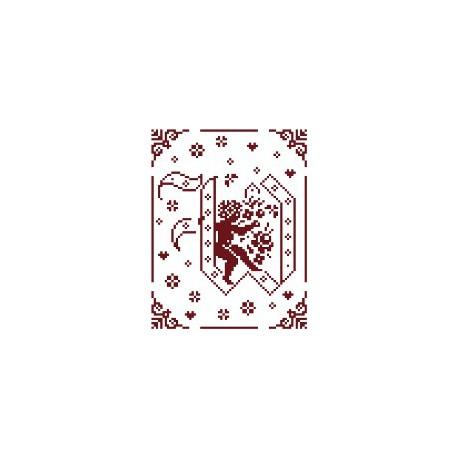 Couleur d'étoile, grille Mon Ange lettre W (CE0079W)