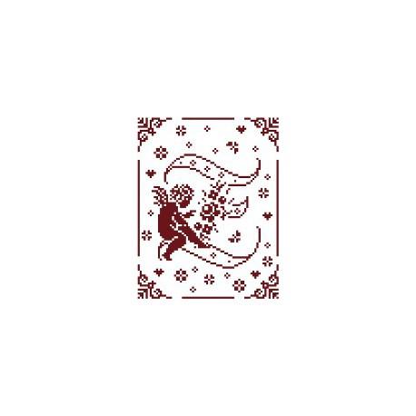 Couleur d'étoile, grille Mon Ange lettre Z (CE0079Z)