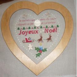 La Cigogne qui brode, grille Mon coeur de Noël (CIG067)