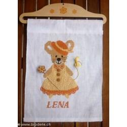 La Cigogne qui brode, grille naissance Lena (CIG208)