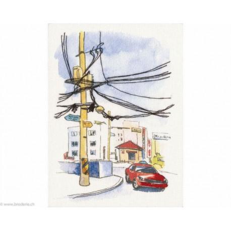 RTO, kit Paint by Threads - poteau électrique (RTODT-M012)