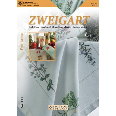 "Zweigart, catalogue de modèles ""Fleurs et fruits"" (103-133)"