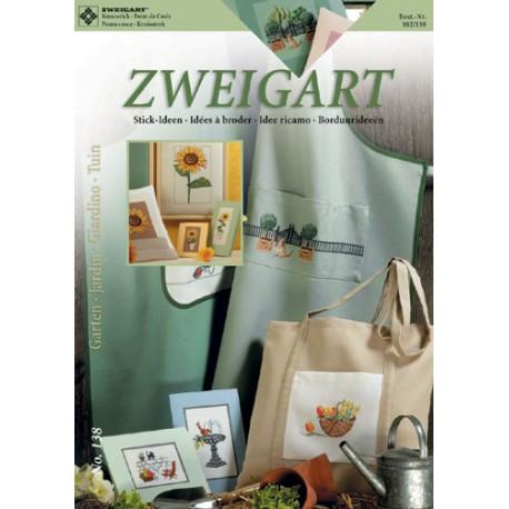 """Zweigart, catalogue de modèles """"Jardin"""" (102-138)"""
