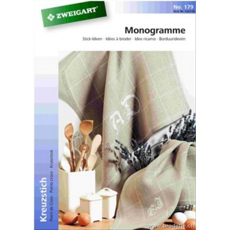 """Zweigart, catalogue de modèles """"Monogramme"""" (102-179)"""