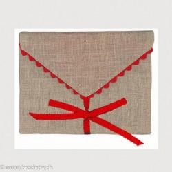 Bonheur des Dames, enveloppe bordure rouge (BDEC1)