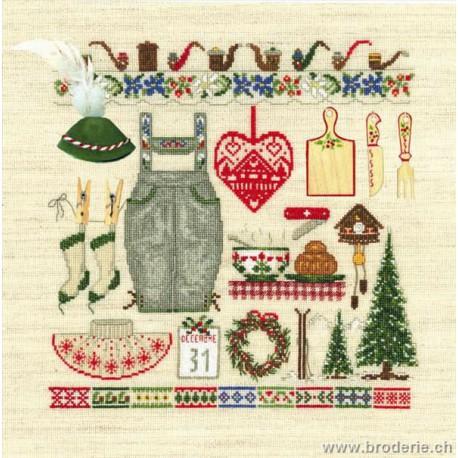 Bonheur des Dames, kit accessoires noël au tyrol (BD2621)