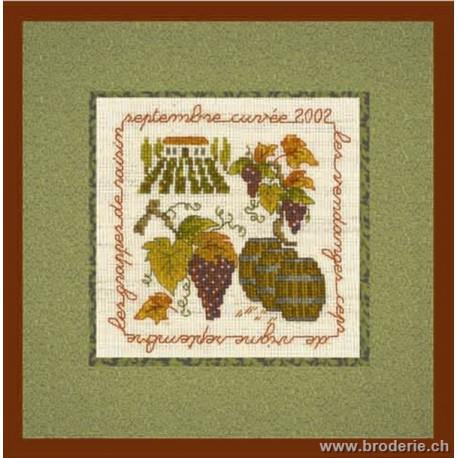 Bonheur des Dames, kit la vigne 10,5x10,5 (BD2236)