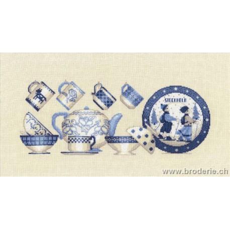 Bonheur des Dames, kit vaisselle bleue (BD1039)