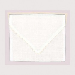 Bonheur des Dames, pochette lin blanc (BDPOC7)