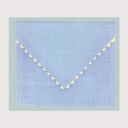 Bonheur des Dames, pochette lin bleu ciel (BDPOC8)
