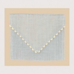 Bonheur des Dames, pochette lin gris perle (BDPOC5)