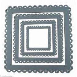 Au Ptit Bonheur, cadre à festons carré gris moyen petit (CAD008P)