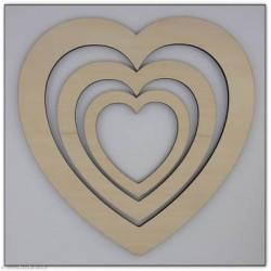 Au Ptit Bonheur, lot de trois Coeurs (CAD0100)