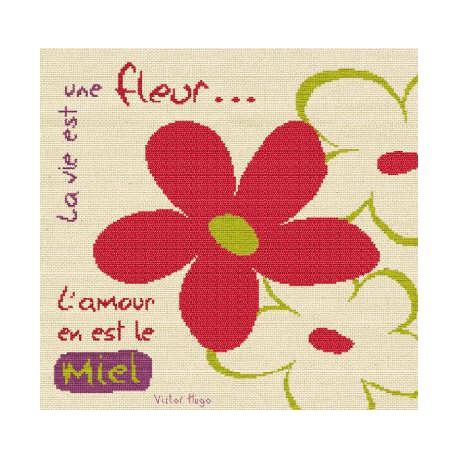 LiliPoints, Grille Bonheur - la vie est une fleur (BN002)