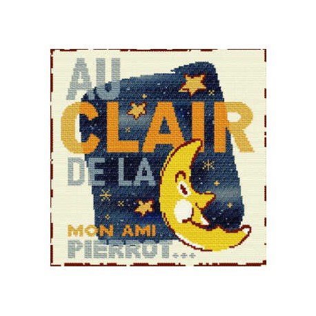 LiliPoints, Grille Enfant - Au clair de la lune (E013)