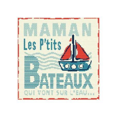 LiliPoints, Grille Enfant - Maman les petits bateux (E012)