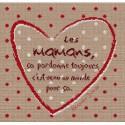 LiliPoints, Grille Fête - fête de mères rouge (F002)