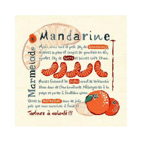 LiliPoints, Grille Gourmandise - Marmelade mandarine (G002)