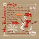 LiliPoints, Grille Montagne - le bonhomme de neige (H006)