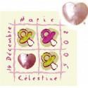 LiliPoints, Grille Naissance - les tétines avec coeur fille (B002F)