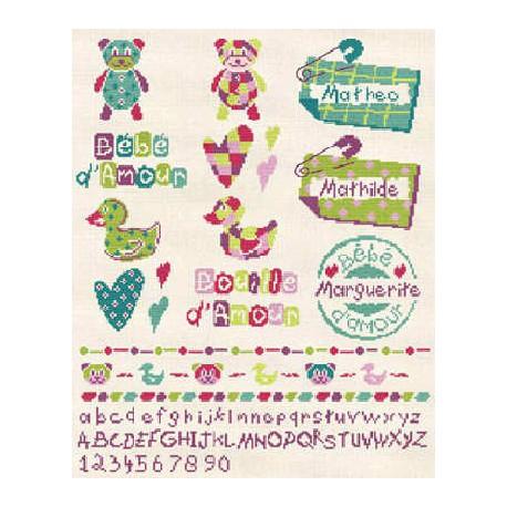 LiliPoints, Grille petits motifs enfants (B010)