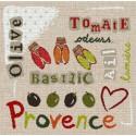 LiliPoints, Grille Provence - tomate et basilic (P005)