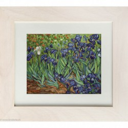 Luca-S, kit canevas petits points Irises, Van Gogh (LUCAG444)
