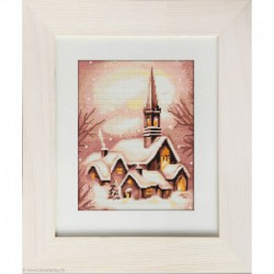 Luca-S, kit canevas petits points Snowy Church (LUCAG401)