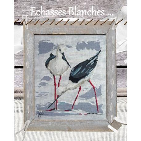 Isabelle Vautier, grille Couple d'Echasses blanches (PORT07)