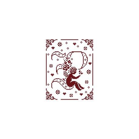 Couleur d'étoile, grille Mon Ange lettre P (CE0079P)