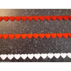 La Stéphanoise, galon coeurs thermocollant rouges (S7481R)