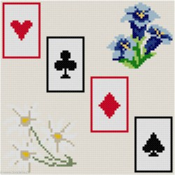 ClBroderie, tapis de carte Gentianes et Edelweiss (TDC02)