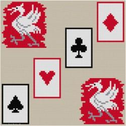 ClBroderie, tapis de carte Symboles (TDC10)