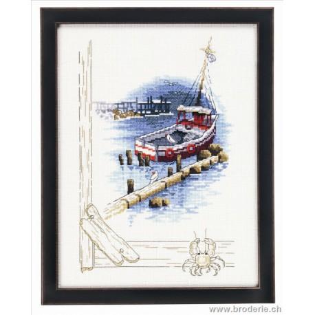 Permin, kit bateau rouge à l'ancre (PE92-7179)