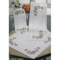 Permin, kit chemin de table fleurs (PE63-3709)