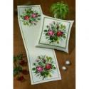 Permin, kit chemin de table Roses (PE68-0360)