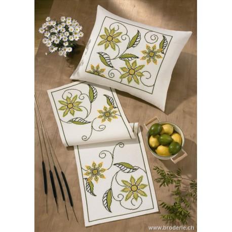 Permin, kit fleurs vertes (PE83-0611)