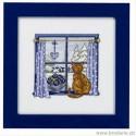 Permin, kit la fenêtre en hiver avec chat (PE12-4443)