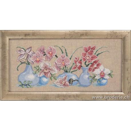 Permin, kit les orchidées en vases (PE70-5126)